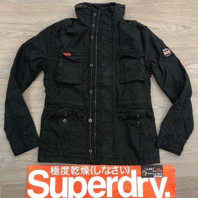 戰火英雄 跩狗嚴選 斯里蘭卡製 極度乾燥 Superdry Rookie M65 軍裝 外套 復古黑 水洗 6+內口袋