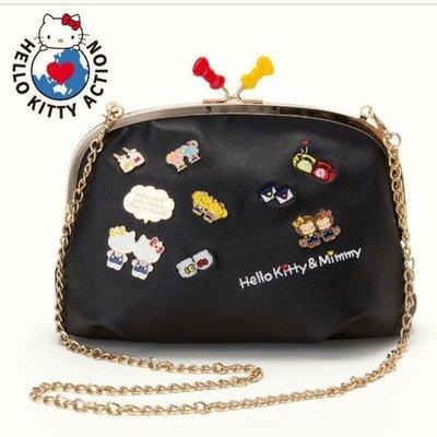 ☆Yoyo&Kiki☆[現貨]三麗鷗正品~Hello Kitty側背包