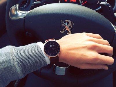 錶 - SMOKO watch 簡約經典錶款 - 玫瑰金 V.S 真皮皮革錶帶( 咖啡錶帶 Vintage Brown)