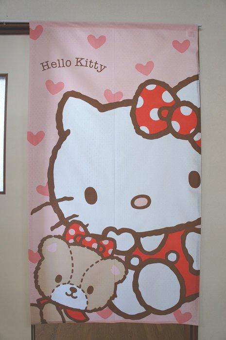 41+現貨免運費 除舊布新 特價新生活 三麗鷗 日本製 長門簾 Hello kitty 凱蒂猫 門簾 居家裝飾 小日尼三