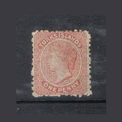 【雲品】特克斯和凱科斯群島Turks 1867 Sc 1 FU (faint cancellaction)