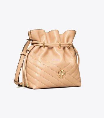 Alina精品代購TORY BURCH 美國輕奢時尚 經典羊皮V紋 顏色6 水桶包 美國代購