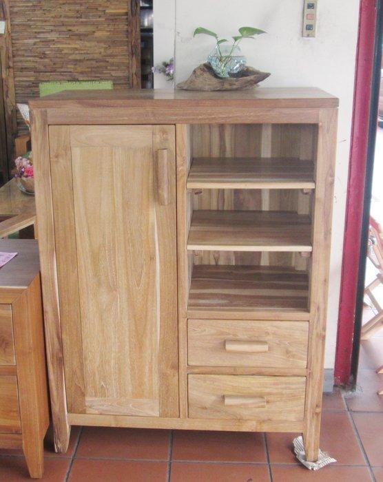 【肯萊柚木傢俱館】100%老柚木全實木 手工製作 收納櫃 小書櫃 置物櫃 限量商品