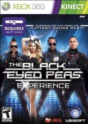 全新未拆 XBOX 360 黑眼豆豆的巨星舞會體驗 限定版(Kinect必須) The Black Eyed-英文美版-