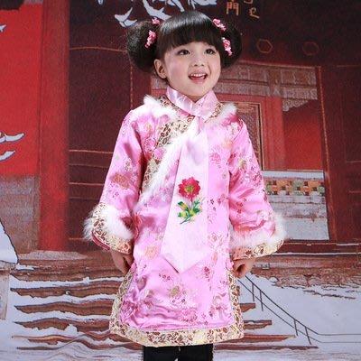 【衣Qbaby】女童唐装冬装格格旗袍喜...