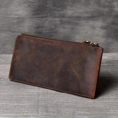 長夾真皮錢包-多卡位一體式瘋馬牛皮男皮夾73vp35[獨家進口][米蘭精品]