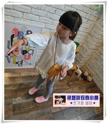 •*~ 辣媽咪衣飾小舖 ~*•❤童裝系列❤N930960韓版唯美褶皺娃娃衫襯衣裙