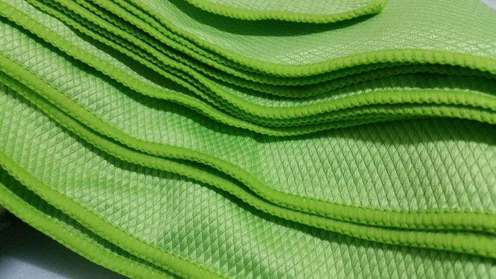 愛車美*~經濟型專業菱格紋多功能擦拭巾 玻璃擦拭布 下蠟布40*40 玻璃布 玻璃專用布