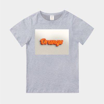 T365 MIT 親子裝 T恤 童裝 情侶裝 T-shirt 標語 話題 口號 美式風格 slogan Orange