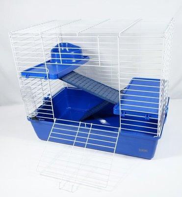 【優比寵物】豪華三層(3層)寵愛天竺鼠籠.兔籠(藍色)NO.H402規格:69*44.5*60(公分)(長寬高)-優惠價