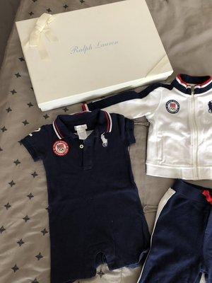 <葛蕾飾屋一館>二手Ralph Lauren男嬰9month限量倫敦奧運三件式套裝