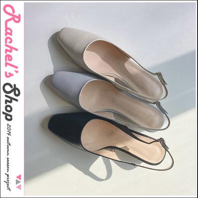 韓國空運*cherrykoko氣質點綴 後勾平頭低跟鞋[CK-CB02GESH3]Rachel's Shop