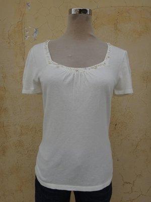 jacob00765100 ~ 正品 日本品牌 CLEAR IMPRESSION 白色 針織衫 size: 2
