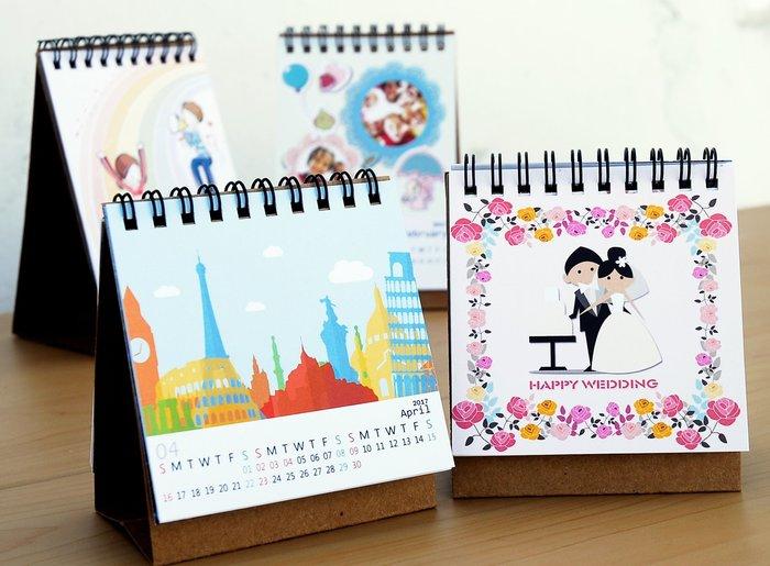 桌曆 可跨年份製作  13張照片 婚禮小物 相片桌曆 年曆 照片客製化 印刷 小量製作 月曆 馬克杯 さ