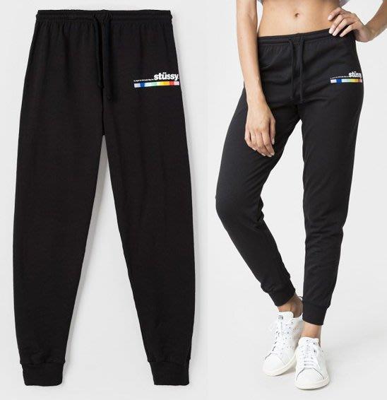 【超搶手】全新正品 女裝 最新款STUSSY COLOR BAR SWEATPANT 字體 棉褲 縮口褲 XS S