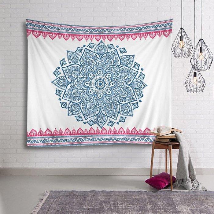 背景布 掛布 墻壁掛飾 背景墻 掛毯 印度Mandala曼陀羅北歐ins掛布墻面背景裝飾畫布瑜伽墻壁掛毯桌布