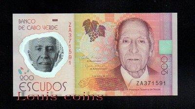 【Louis Coins】B092-CAPE VERDE-2014維德角塑膠鈔票.