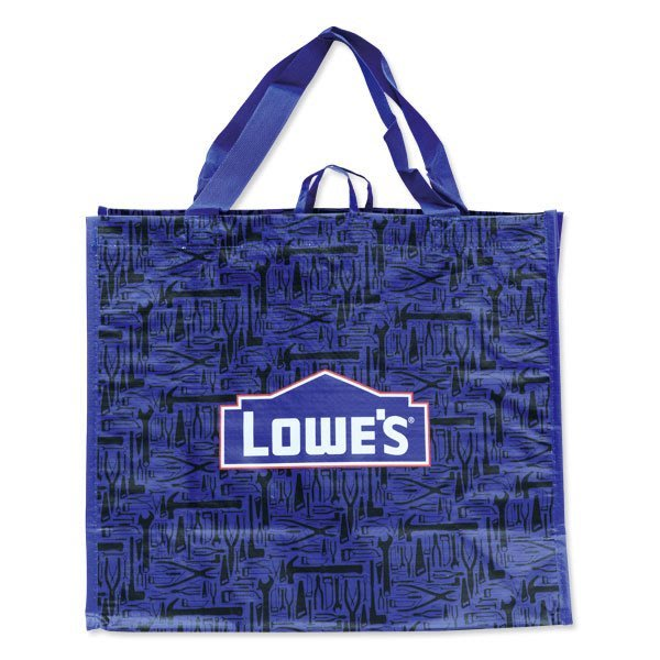 (I LOVE樂多)美國進口 LOWES Tote Bag 工業圖像設計 輕便手提袋