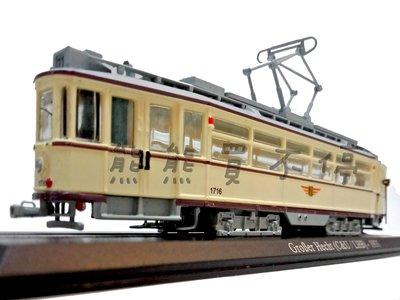 在台現貨/ 鐵道迷最愛 GroBer Hecht (C&U / LHB) 1931年 1/87 電車火車模型 附鐵軌