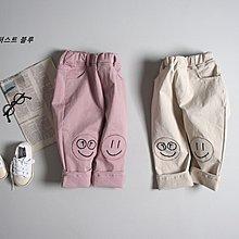 CICIGO 韓國 正韓童裝 1ST 微笑刺繡卡其褲 長褲 3-15 粉 米白  預購