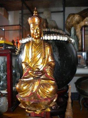 【準提坊】地藏王菩薩,老件、裝臟,通高42cm〈增補最後3張圖片,含底部圖〉