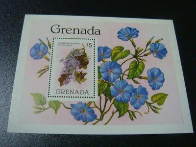 【大三元】F2a各國蝴蝶專題系列-美洲郵票-格瑞那達-新票小全張