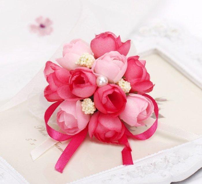 婚禮小物 新娘手腕花 伴娘手腕花 韓式手腕花 結婚胸花 手腕花多朵款