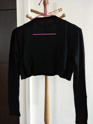 一元起標~黑色針織彈性小罩衫外套