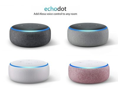 Amazon Echo Dot(3rd Gen)Smart Speaker with Alexa,亞馬遜Echo Dot第三代Alexa音控智能喇叭,全新原裝!