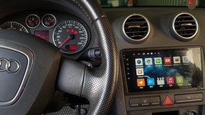 AUDI 奧迪 A3 A4 TT 9吋 Android 安卓版 觸控螢幕 專用主機導航/USB/方控/藍芽/TS10