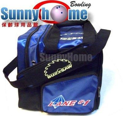 Sunny Home 保齡球用品館 - 美國原廠 Lane#1 保齡球單球袋(背提兩用)黑藍、金藍、橘藍色