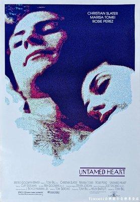 【Visconti】電影原版海報-Untamed Heart心蕩神馳-克利斯汀.史萊特+瑪莉莎湯美(1993年,美國版)