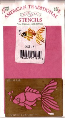 陽光一品DIY卡片印章專賣店~~銅片特賣--金魚--#MS-181#~~美國製絕版品