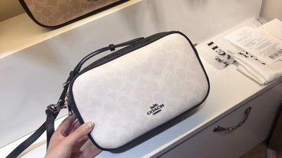 【小怡代購】 全新 COACH 91077 美國正品代購新款拼色雙拉鏈相機包 女式單肩背包 斜跨包 超低直購