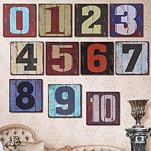 複古懷舊數字木板畫餐廳咖啡廳酒吧門牌裝飾畫創意個性工業風掛牌(21款可選)