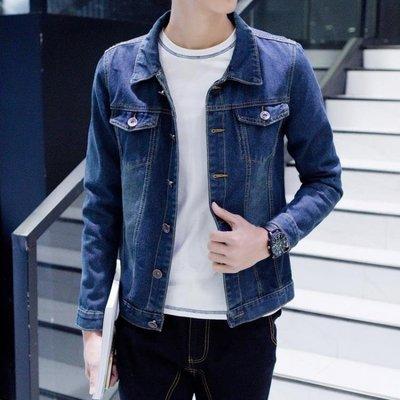 牛仔外套男 夏季薄款男士帥氣牛仔外套夾克男裝青少年韓版修身上衣服褂子潮流