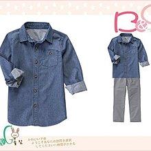 【B& G童裝】正品美國進口Crazy8 Dobby Indigo Shirt牛仔棉布長袖襯衫M,L號6-8-10yrs