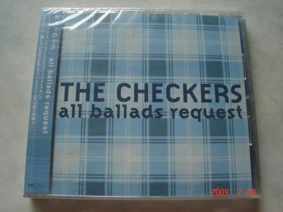 *日版CD--THE CHECKERS方格子合唱團-all ballads request (無側標)