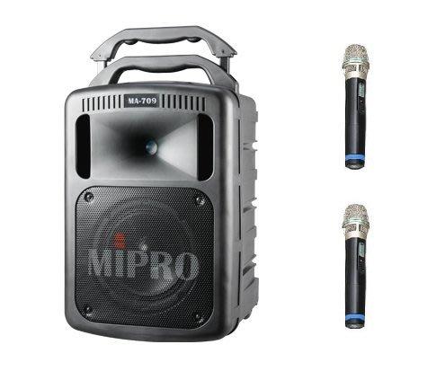 【六絃樂器】全新 Mipro MA-709 豪華型 手提式無線擴音機 / 藍芽傳輸 附CD.mp3播放器