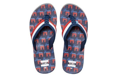 [現貨]TOMS涼鞋 美國民主黨驢子特別版 Verano Sandal夾腳拖 Democrat Donkeys 休閒鞋