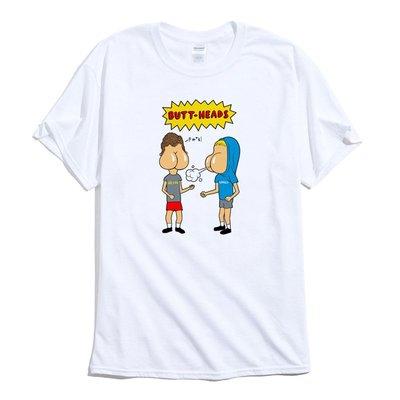 Butt Heads 短袖T恤 白色 癟四與大頭蛋 屁股 臉 趣味 幽默 搞笑 潮T
