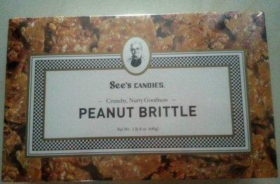 【比價達人】代購 See`s Candies 花生脆片Peanut Brittle 1 lb.8oz(680g)