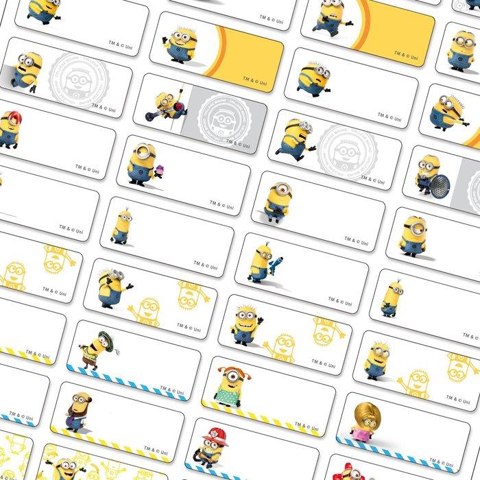 熊爸印&貼 小小兵 黃色小兵 姓名貼紙 絕對正版 台灣製 防水 貼紙 標籤 小貼300張120元