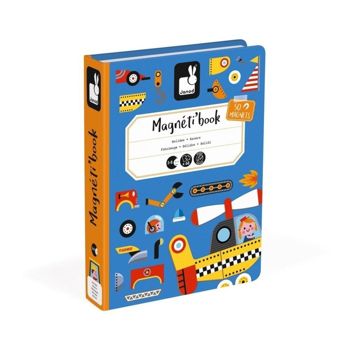 【魔法世界】法國 Janod 創意兒童智玩 磁鐵遊戲書-交通工具