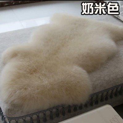 AS 澳洲羊毛 皮毛一體 長毛地墊 坐墊  1P 100*70