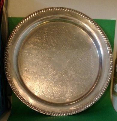 306 高級英國鍍銀盤 Antique Silver Plate Tea Pot tray
