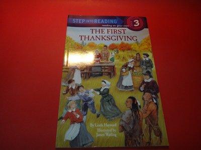 【愛悅二手書坊 08-33】THE FIRST THANKSGIVING   STEP INTO READING 3