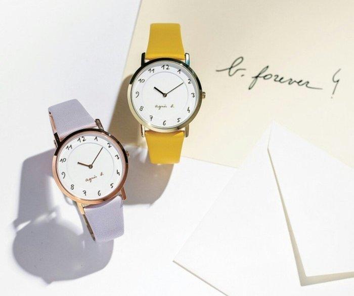 天使熊雜貨小舖~agnes b. maruchiero Marcello 30周年紀念限定女士石英手錶 全新現貨