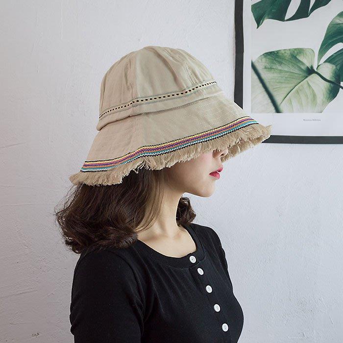 SeyeS 雜誌款!森林系民族風織帶滾邊漁夫帽