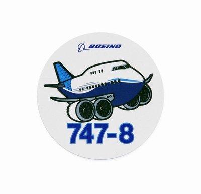 官方版 Boeing 波音 747-8 飛機 Q版貼紙 Pudgy Sticker